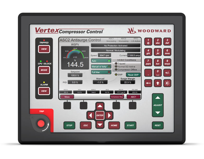 Industrial Compressors Vertex Front Panel