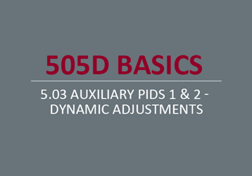 Auxiliary PIDs 1 & 2 - Dynamic Adjustments