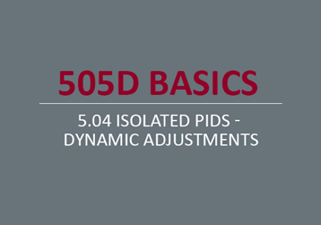 Isolated PIDs - Dynamic Adjustments