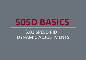 Speed PID - Dynamic Adjustments